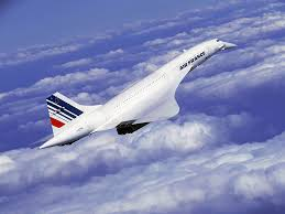The Concorde cruising at altitude