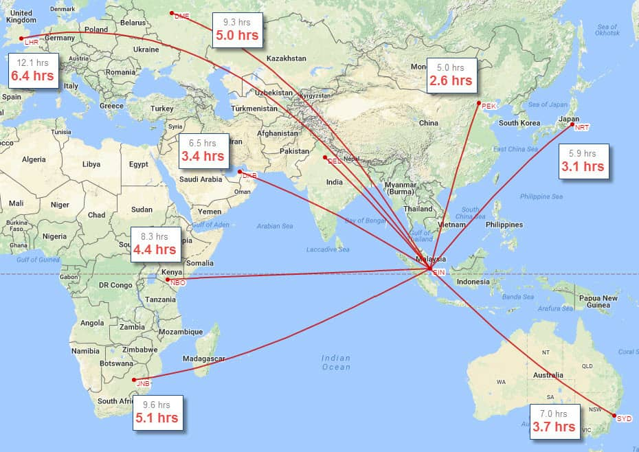 Singapore to the World on the Spike S-512 – Spike Aerospace on south africa on world map, democratic republic of congo on world map, india on world map, yangtze river on world map, thailand on world map, mecca on world map, middle east on world map, perth on world map, israel on world map, hong kong on world map, beijing on world map, kenya on world map, cape of good hope on world map, japan on world map, libya on world map, australia on world map, dubai on world map, shenzhen on world map, new guinea on world map, spain on world map,