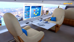 Luxury and productivity at your fingertips in the Multiplex Digital Cabin of the Spike S-512 Quiet Supersonic Jet