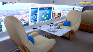 Spike S-512 interior presentation on Multiplex Digital Cabin