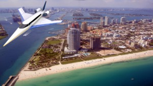 Spike S-512 Quiet Supersonic Jet over Miami