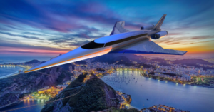 Spike S-512 Quiet Supersonic Jet over Rio